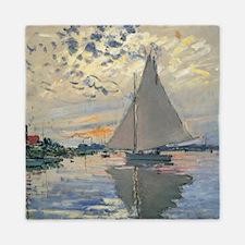 Monet Sailboat French Impressionist Queen Duvet