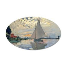 Monet Sailboat French Impressionist Wall Decal