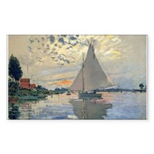 Monet Sailboat French Impressionist Decal
