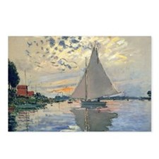 Monet Sailboat French Impressionist Postcards (Pac