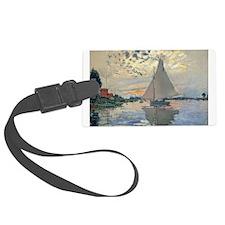 Monet Sailboat French Impressionist Luggage Tag