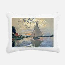 Monet Sailboat French Impressionist Rectangular Ca