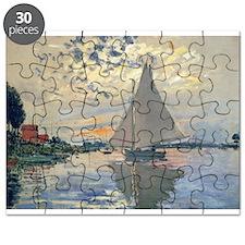 Monet Sailboat French Impressionist Puzzle