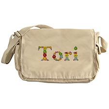 Tori Bright Flowers Messenger Bag