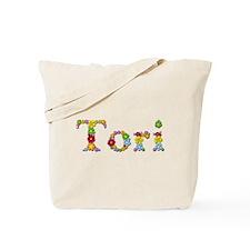 Tori Bright Flowers Tote Bag