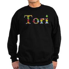 Tori Bright Flowers Sweatshirt