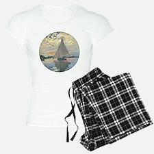 Monet Sailboat French Impressionist Pajamas