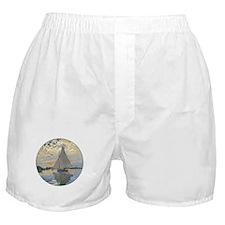 Monet Sailboat French Impressionist Boxer Shorts