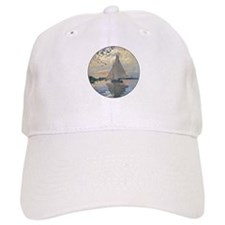 Monet Sailboat French Impressionist Baseball Baseball Cap