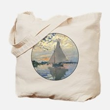 Monet Sailboat French Impressionist Tote Bag