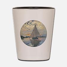 Monet Sailboat French Impressionist Shot Glass