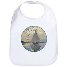 Monet Sailboat French Impressionist Bib