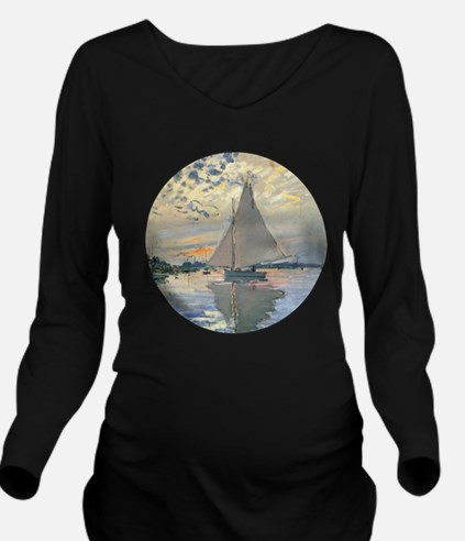 Monet Sailboat French Impressionist Long Sleeve Ma