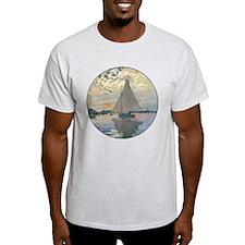 Monet Sailboat French Impressionist T-Shirt