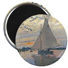 Monet Sailboat French Impressionist Magnets