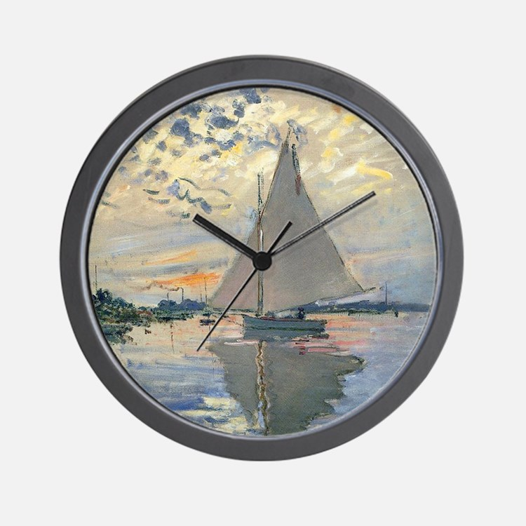 Monet Sailboat French Impressionist Wall Clock