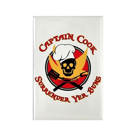 Captain Cook Rectangle Magnet