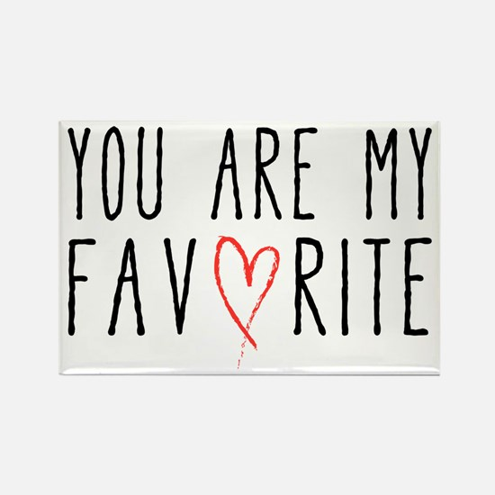 You are my favorite with red heart Magnets
