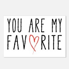 You are my favorite with red heart Postcards (Pack