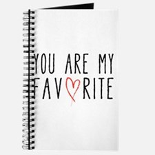 You are my favorite with red heart Journal