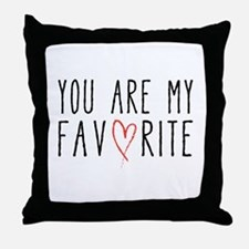 You are my favorite with red heart Throw Pillow