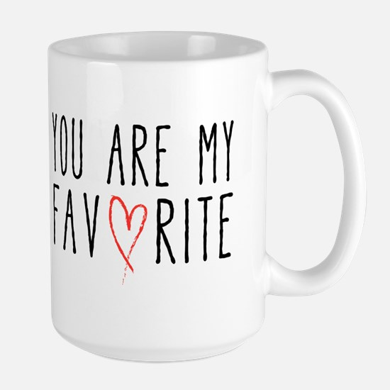 You are my favorite with red heart Mugs