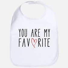 You are my favorite with red heart Bib