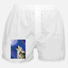 Wolf and Full Moon Boxer Shorts