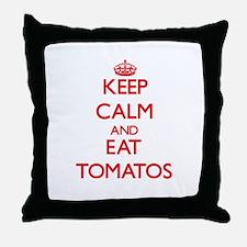 Keep calm and eat Tomatos Throw Pillow