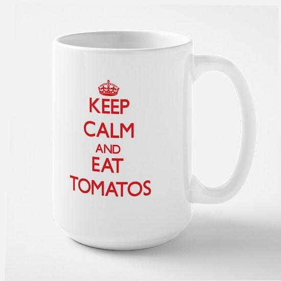 Keep calm and eat Tomatos Mugs