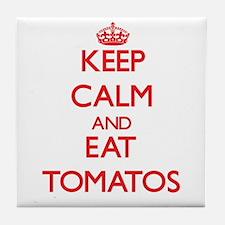 Keep calm and eat Tomatos Tile Coaster