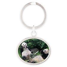 pandas Oval Keychain