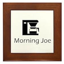 Morning Joe Framed Tile