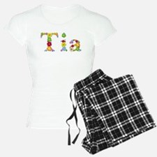 Tia Bright Flowers Pajamas