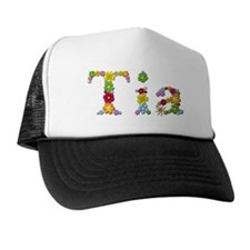 Tia Bright Flowers Trucker Hat