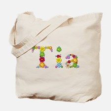 Tia Bright Flowers Tote Bag