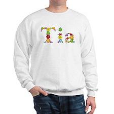 Tia Bright Flowers Sweatshirt