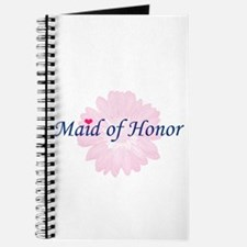 Maid of Honor Flower Logo Journal