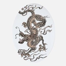 Chinese Dragon Oval Ornament