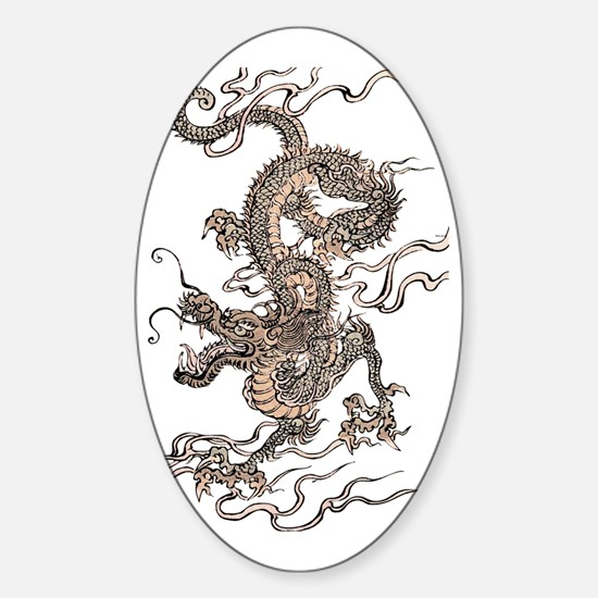Chinese Dragon Sticker (Oval)