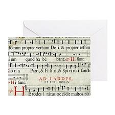Music Manuscript Greeting Card