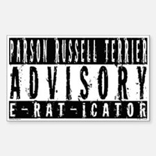 Parson Russell Terrier E-RAT-ICATOR Decal