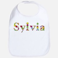 Sylvia Bright Flowers Bib