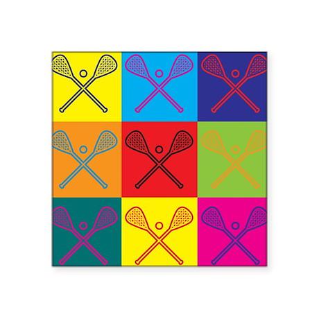Lacrosse Pop Art Sticker