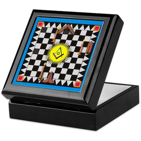 Masonic Lodge Floor Keepsake Box