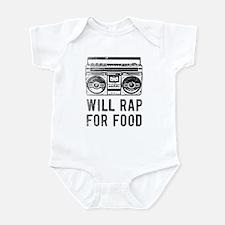 Will Rap For Food- Retro baby Infant Bodysuit