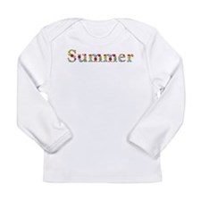 Summer Bright Flowers Long Sleeve T-Shirt