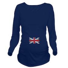 Union Jack Grunge Distressed British Flag Long Sle