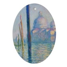Grand Canal Venice by Monet Ornament (Oval)