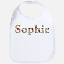 Sophie Bright Flowers Bib